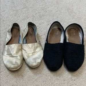 Toms 2 pair both size 7.5